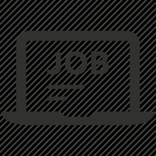 candidate, job, online, resume icon