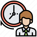 arrive, habits, on, punctuality, time icon