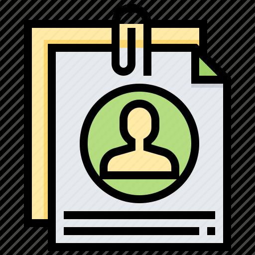 curriculum, information, personal, resume, vitae icon