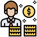 income, money, receive, salary, wage icon