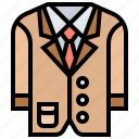 attire, business, clothes, man, suit icon