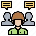 candidate, company, interview, job, team icon