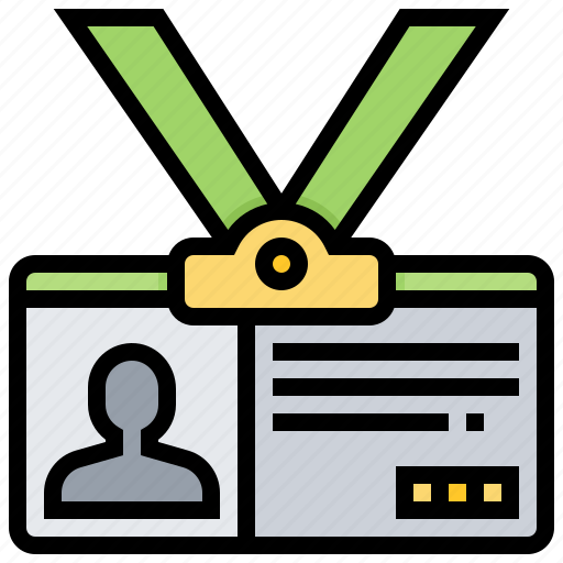 card, employee, name, permission, visitor icon