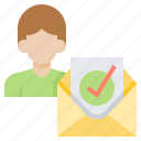 appointment, confirm, document, employee, letter icon