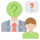 employee, help, interview, job, question icon