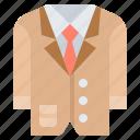 attire, business, clothes, man, suit icon