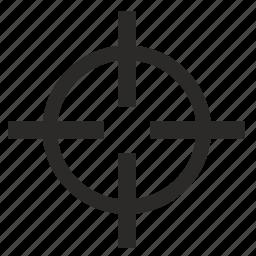 aim, cursor, instrument, pointer, program, target icon