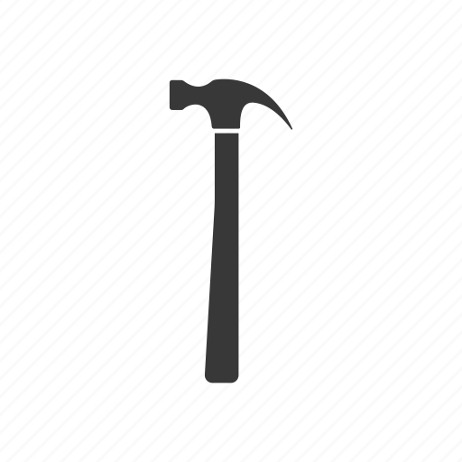 Gavel, hammer, instrument, silhouette, tool icon - Download on Iconfinder