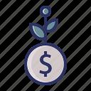dollar, finance, grow, investment, money, plant
