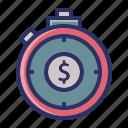 dollar, investment, money, stopwatch, timer