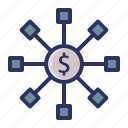 chart, diagram, dollar, investment, money icon