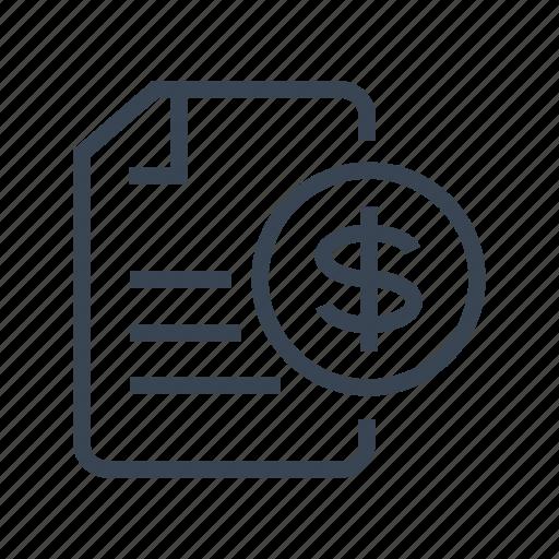 bill, contract, financial, invoice icon