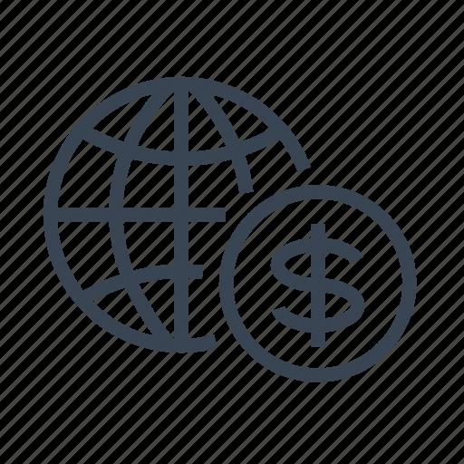 business, economy, finance, international icon