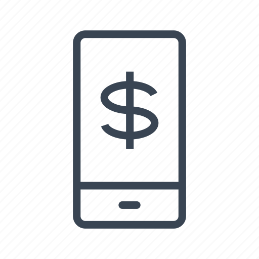 cell, dollar, mobile, phone icon