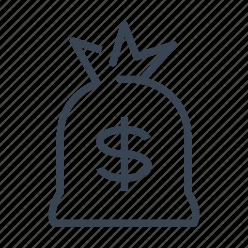 bag, bank, dollar, money icon