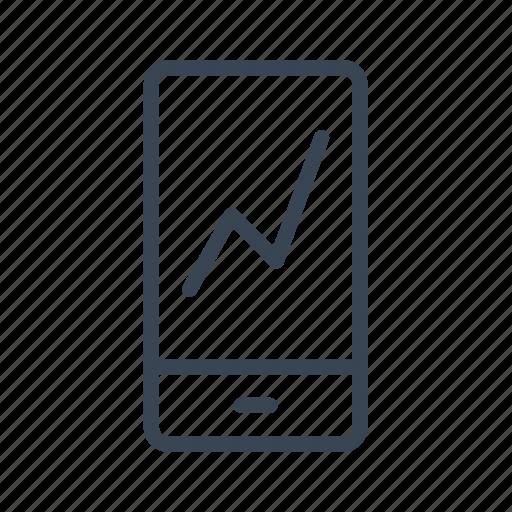 analysis, graph, mobile, phone, statistics icon