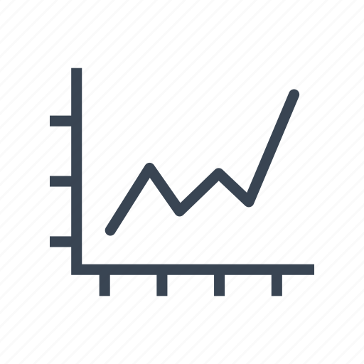 graph, increase, statistics, success icon