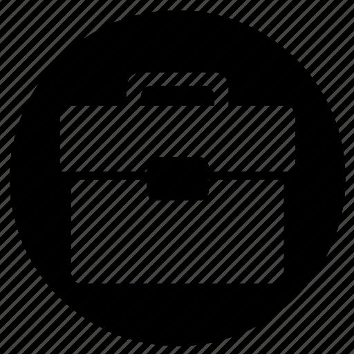 case, investment, label, round icon