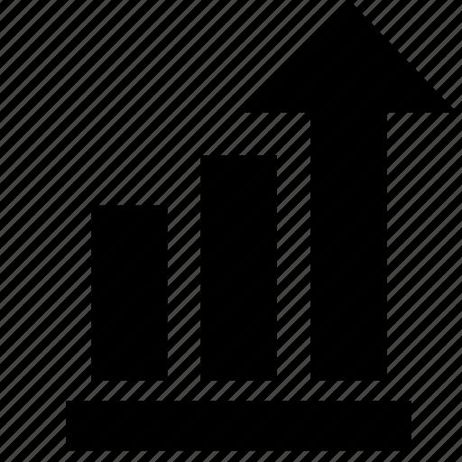 arrow, economics, graphic, growth, investment, top icon