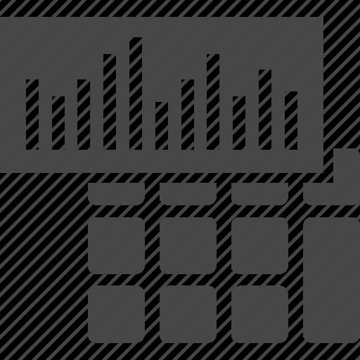 analytics, calculator, investment icon