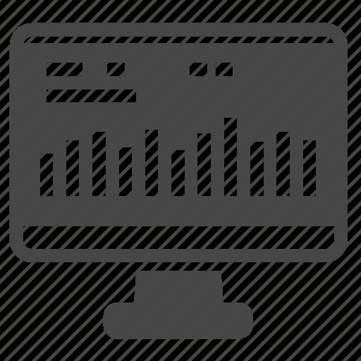 analysis, analytics, computer, investment icon