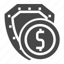 investment, money, security, shield icon