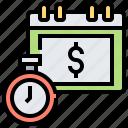 calendar, duration, investment, planner, schedule icon