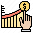 benefit, chart, graph, growth, revenue icon