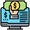 computer, fund, income, revenue icon