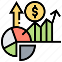 benefit, chart, financial, graph, profit icon