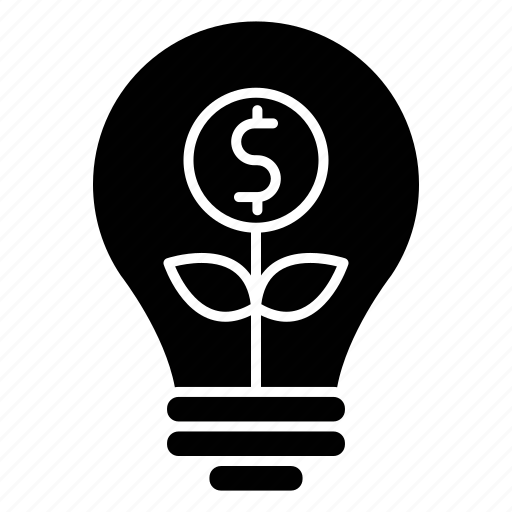 bulb, business, finance, idea, invest, investment, seo icon