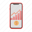 invest on smartphone, investment, finance, business, cash, graph, indicator