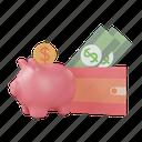 investment, save money, cash, pig, money, bank, finance