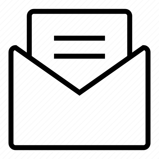 communication, email, letter, mail, post, postal letter icon