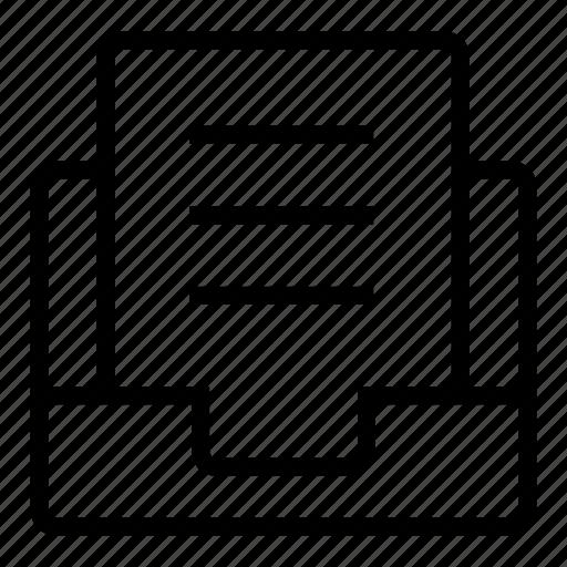 document, file, file folder, folder, paper, sheet icon