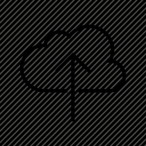 backup, cloud, icloud, syncronization, upload, uploading icon