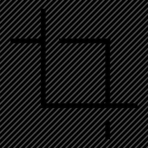 crop, edit, photo crop icon