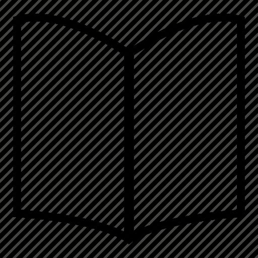 book, menu, menu card, open book, reading, reading book icon