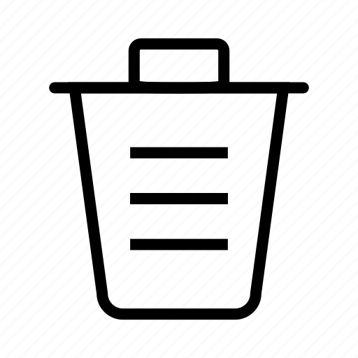 basket, dumpster, dustbin, trash bin, trash can, waste basket, waste container icon