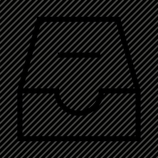 delete document, document, drawer, minus, minus document, remove document, storage icon