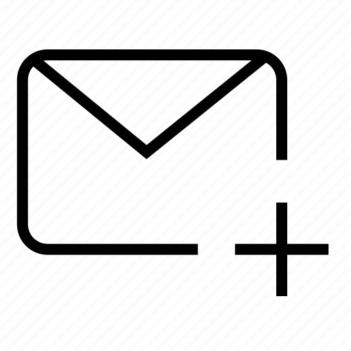 add mail, email, letter, mail, plus mail, post, postal mail icon