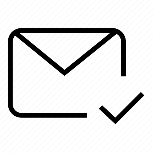 checked mail, email, letter, mail, post, postal mail, read mail icon