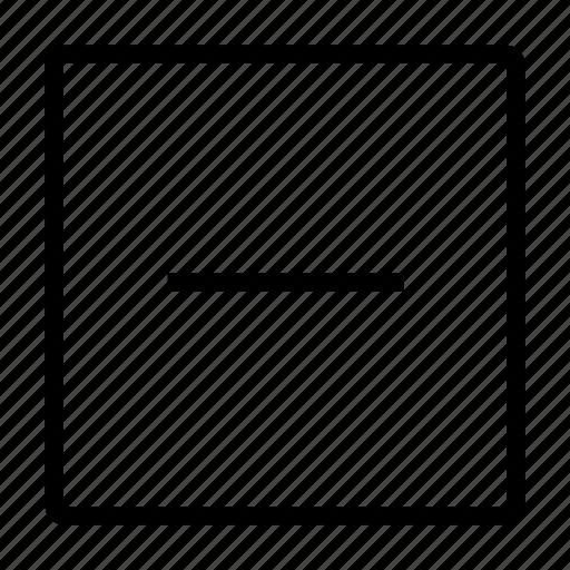 delete, minus, minus sign, minus tag, remove icon
