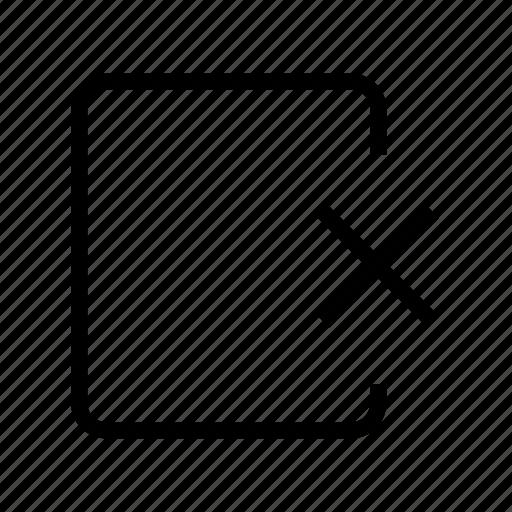 cross document, delete document, document, file, file folder, folder, remove document icon