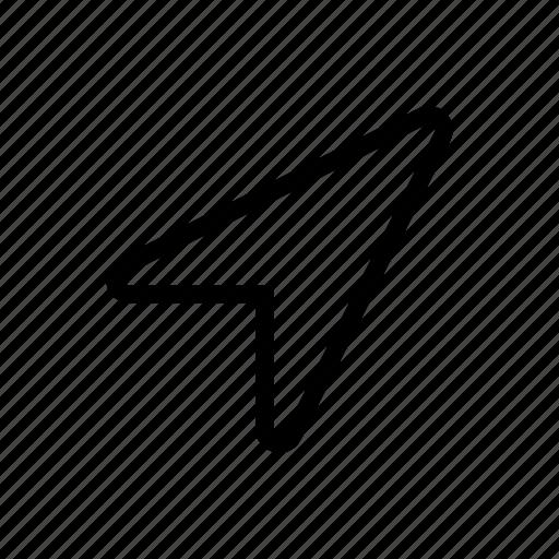 dart, paper, paper aeroplane, paper dart, paper glider, paper plane, plane icon