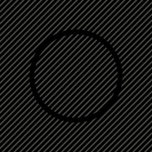 circle, round, sphere icon