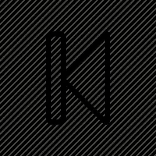 arrow, back, previous, rewind, rewind button icon