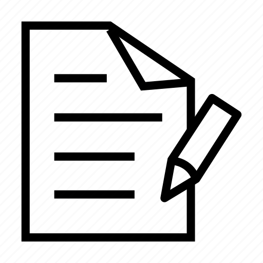 document, paper, pencil, sheet, write, writing icon