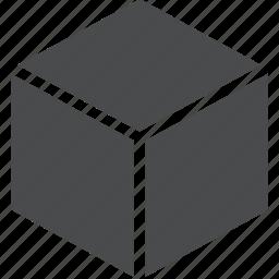 box, cube, form, geometric, geometry, three dimensional icon