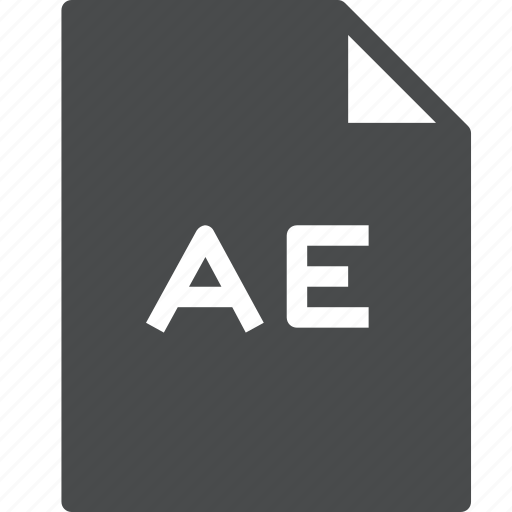 adobe, ae, after effects, document, file icon